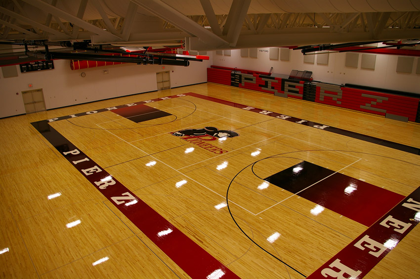 High school gym floors photo gallery aacer sports flooring for Gym floor design